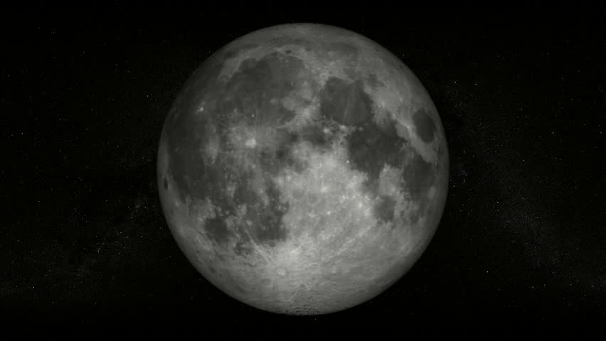 Full moon with a starfield as background, rotates 360 degrees over time (60 sec.) #985087
