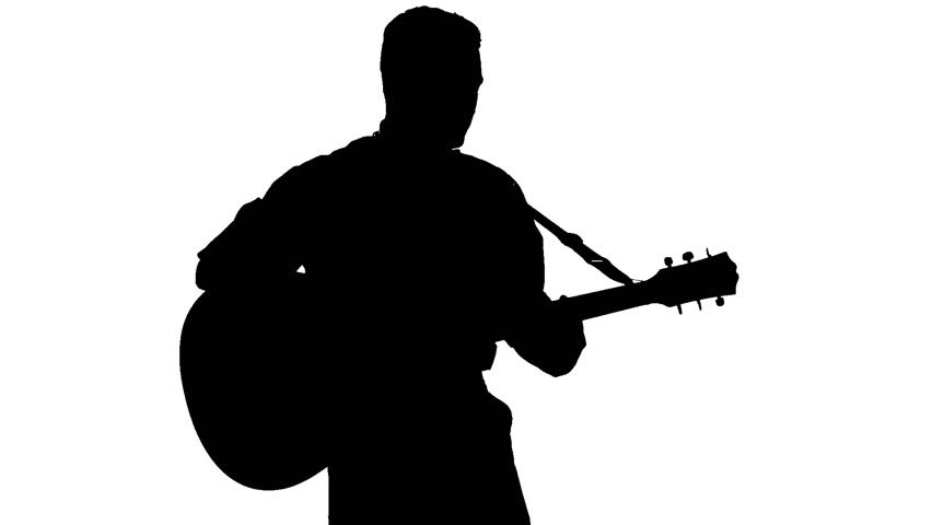 Guitar Player Silhouette Stock Footage Video | Shutterstock