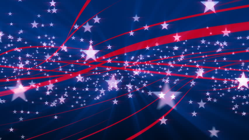 red white and blue stars background stock footage video 4977047