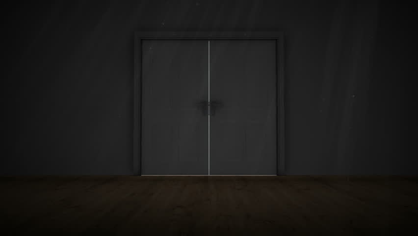 Digital animation of Door opening to light - HD stock video clip : reveal door - pezcame.com