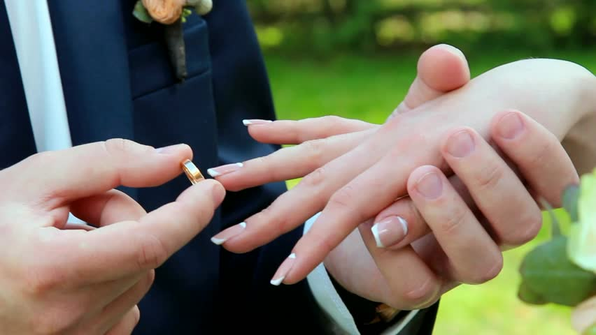 wedding rings groom and bride with wedding ring hands of wedding couple just