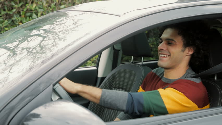 Merveilleux Cool Young Man Starting Car Singing Happy Stock Footage Video 9940703    Shutterstock