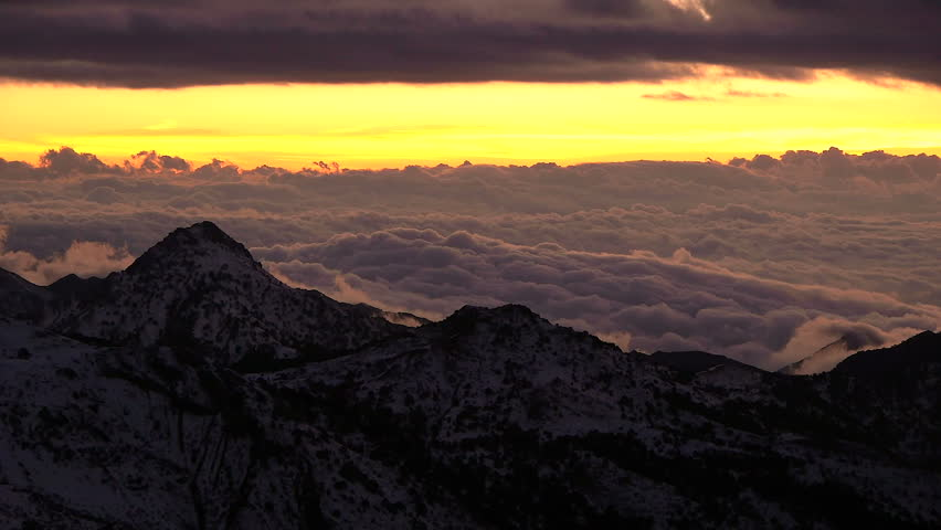 Timelapse at dusk in Sierra Nevada, Andalusia with yellowing from last lights | Shutterstock HD Video #9946583