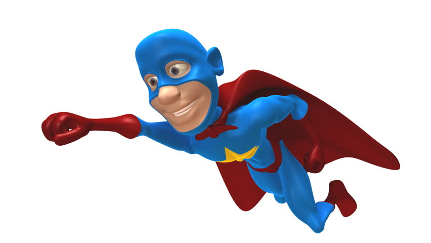 Superhero flying (loopable with alpha)
