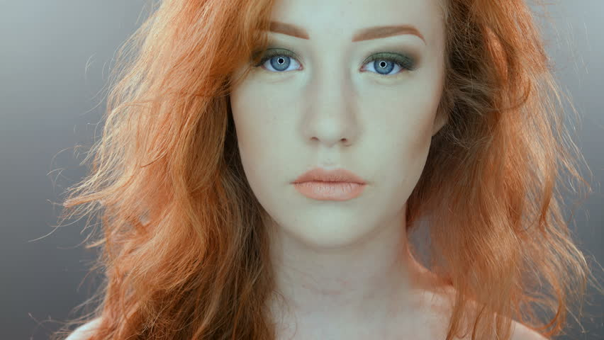 women with red hair and blue eyes